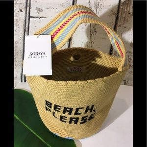 NEW Soraya Hennessy Woven Beach 🏖 Bag